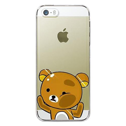 Кейс для Назначение Apple iPhone X iPhone 8 Plus Кейс для iPhone 5 iPhone 6 iPhone 6 Plus iPhone 7 Plus iPhone 7 Прозрачный С узором Кейс цены онлайн