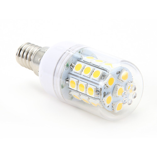 4 Вт. 300-350 lm E14 LED лампы типа Корн T 30 светодиоды SMD 5050 Тёплый белый AC 220-240V