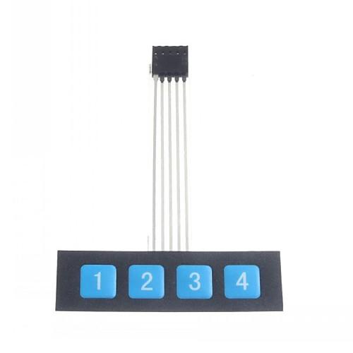 1x4 кнопку на панели управления матрицей мембранный переключатель клавиатуры Клавиатура тонкий