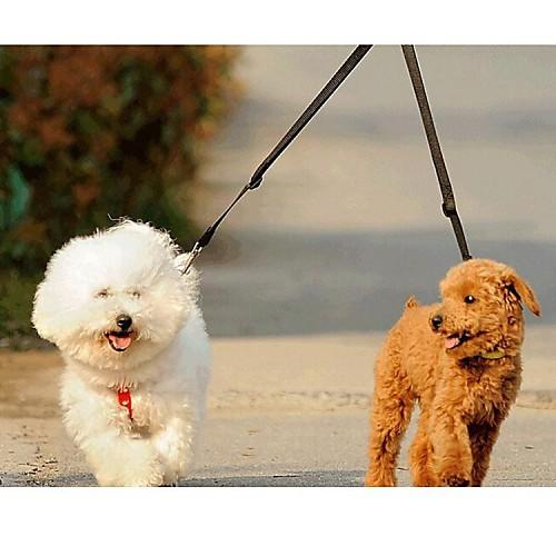 Кошка Собака Поводки Двойные поводки для собак Двуспальный комплект Однотонный Нейлон Желтый Красный Зеленый Синий Розовый комбинезон для собак dezzie 563554