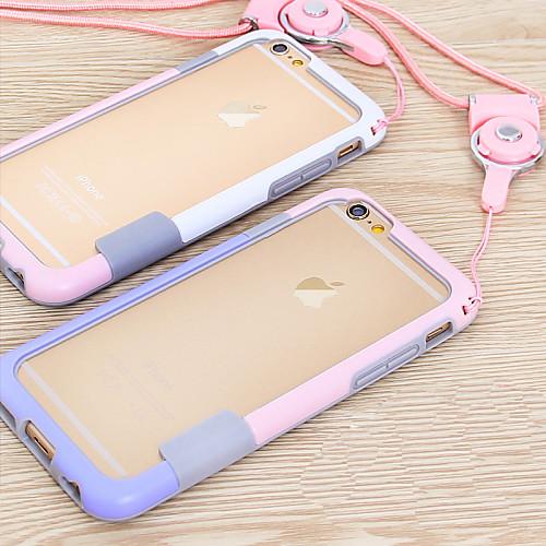Фото Кейс для Назначение Apple iPhone 6 iPhone 6 Plus Other Бампер Сплошной цвет Мягкий ТПУ для iPhone 6s Plus iPhone 6s iPhone 6 Plus iPhone 6 gumai silky case for iphone 6 6s black