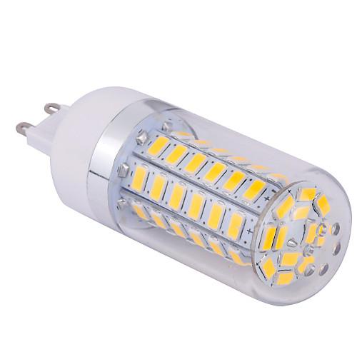 15W G9 LED лампы типа Корн T 60 SMD 5730 1500 lm Тёплый белый / Холодный белый AC 85-265 V 1 шт.