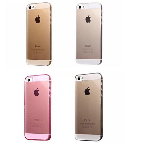 Кейс для Назначение Apple iPhone 8 iPhone 8 Plus Кейс для iPhone 5 iPhone 6 iPhone 6 Plus iPhone 7 Plus iPhone 7 Ультратонкий Прозрачный
