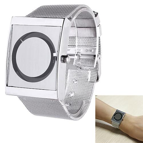 Men's Wrist Watch Quartz Stainless Steel Silver Casual Watch Analog Elegant Unique Creative - White Black