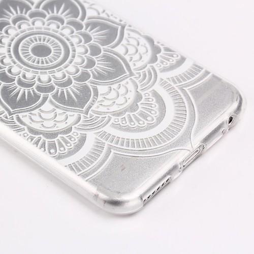 белый цветочный узор мандалы ультра тонкий мягкий TPU задняя крышка чехол для Iphone 6с 6 плюс от MiniInTheBox.com INT