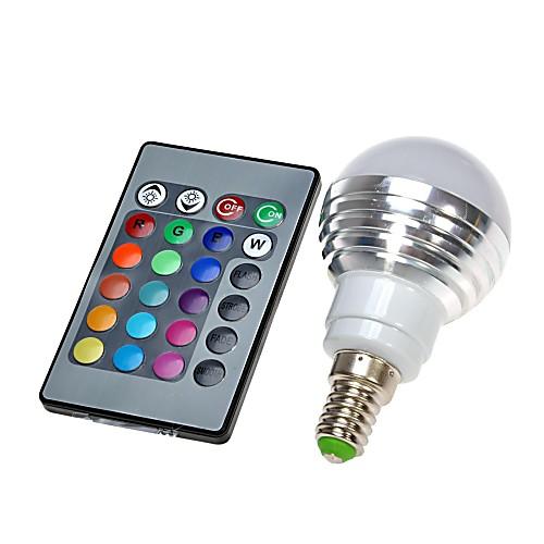 300 lm E14 Круглые LED лампы светодиоды На пульте управления RGB AC 100-240 В