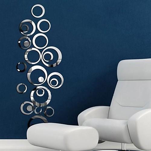 Декоративные наклейки на стены - Зеркальные стикеры Зеркала Гостиная Спальня Ванная комната Кухня Столовая Кабинет / Офис Мальчики
