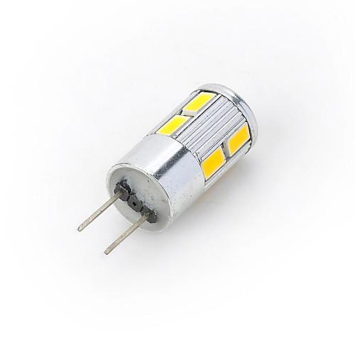 300-400 lm G4 Точечное LED освещение Двухштырьковые LED лампы 10 светодиоды SMD 5730 Тёплый белый Холодный белый DC 12V