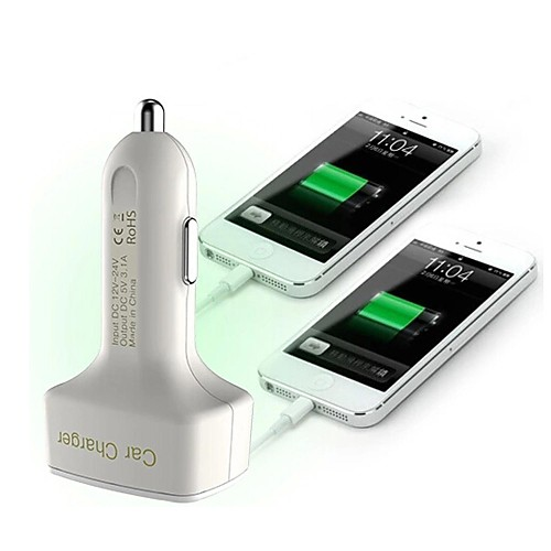 многофункциональный автомобильное зарядное устройство отображения напряжения / ампер и температуры / Два USB порта 12v 3.1a автомобильное