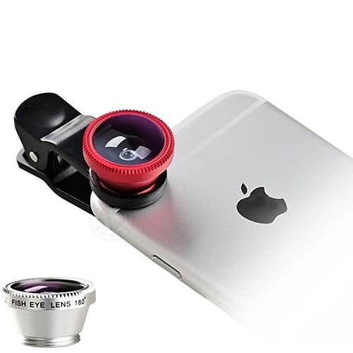Универсальный 3 в 1 широкоугольный макрообъектив рыбий глаз для камеры сотового телефона, универсальный зажим <br>
