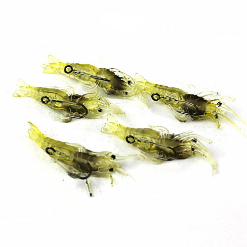 Мягкие приманки Рыболовная приманка рыболовные крючки Для рыбалки - 5 штук Металл Силиконовые - Морское рыболовство Ловля на приманку 1шт лягушка приманки приманки для рыбалки высокого качества 6 цветов для рыбалки 2 5 08cm 0 27oz 7 68g рыболовные снасти