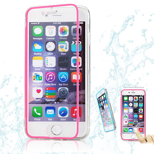 Кейс для Назначение Apple iPhone 6 iPhone 6 Plus Прозрачный Чехол Сплошной цвет Мягкий ТПУ для iPhone 6s Plus iPhone 6s iPhone 6 Plus антигравитационный чехол для iphone 6 plus 6s plus черный