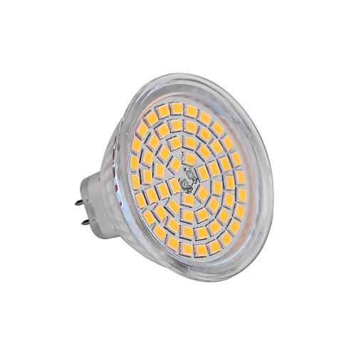ywxlight gu5.3 (MR16) 6w 60x2835smd 720lm 2800-3200K / 6000-6500K теплый / холодный белый свет DC 12V