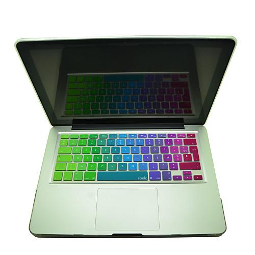 coosbo красочный французский AZERTY силиконовой кожей крышка клавиатуры для IMAC g6 13 / 15 / 17 MacBook Air Pro / сетчатки 17 logic board for macbook pro a1212 motherboard p n 820 2059 a 611 4235 cpu t7600 2 33ghz ma611 2006