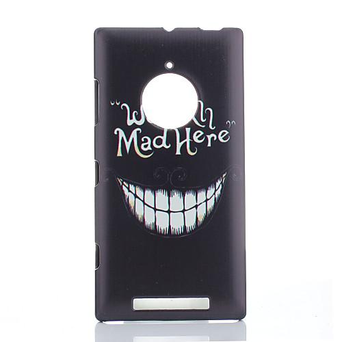 Магия spider большая улыбка Pattern Пластиковые Защитный чехол с защитой экрана для Nokia Lumia 830