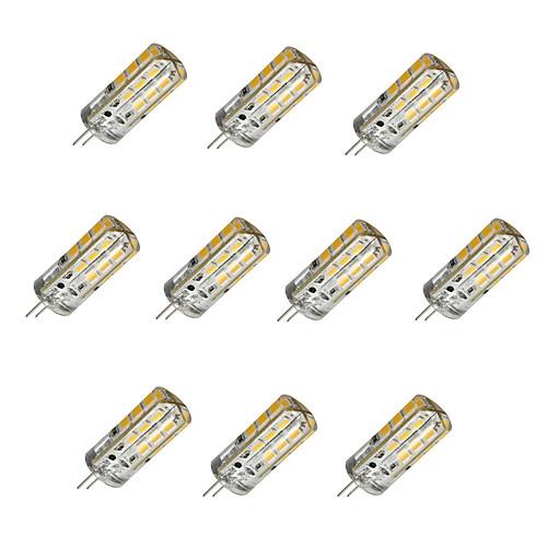3W G4 LED лампы типа Корн T 24 SMD 2835 160-190 lm Тёплый белый / Холодный белый Регулируемая DC 12 V 10 шт.