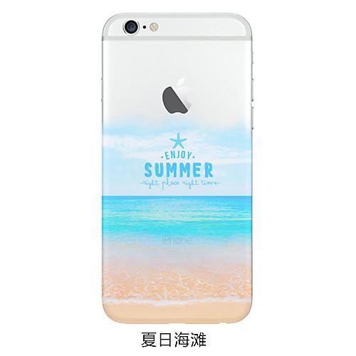Стильная прозрачная, задняя крышка, чехол, с принтом для IPhone 6 / 6S от MiniInTheBox.com INT