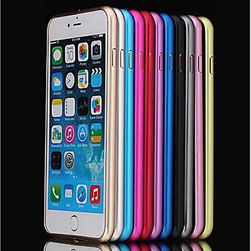 Кейс для Назначение Apple iPhone 8 iPhone 8 Plus iPhone 6 iPhone 6 Plus Защита от удара Ультратонкий Бампер Сплошной цвет Твердый Металл replacement assembly parts buzzer ringer loud speaker for iphone 6