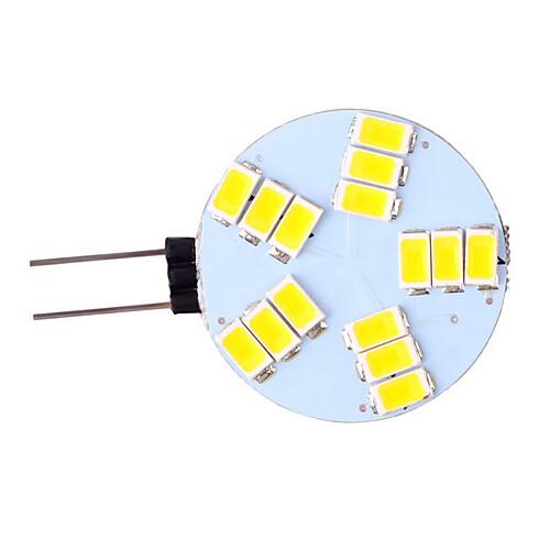 3 Вт. 350 lm G4 Двухштырьковые LED лампы 15 светодиоды SMD 5730 Тёплый белый Холодный белый AC 12V