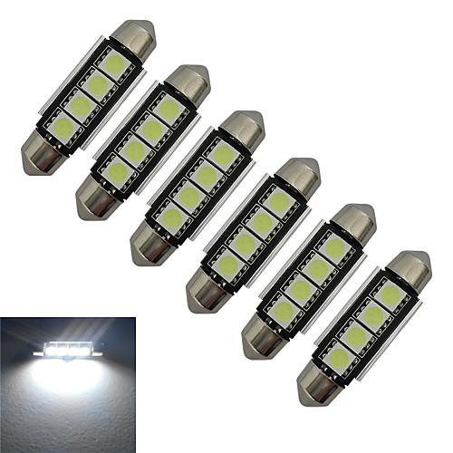 jiawen 6pcs 1.5w 80-90 lm свет света чтения света света света 4 водить smd 5050 холодный белый dc 12v