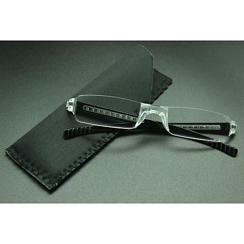 [бесплатная линзы] прямоугольник без оправы легкие очки для чтения от MiniInTheBox.com INT