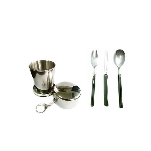 Набор походной посуды наборы Складной Нержавеющая сталь ABS для Отдых и Туризм На открытом воздухе
