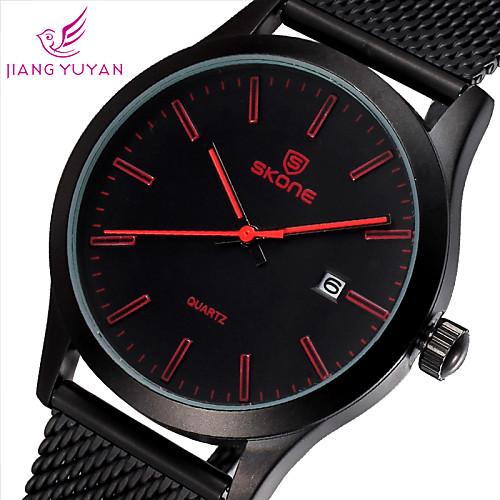 2015 новая мода случайные SKONE бренд бизнес Часы Мужские роскошные часы качества студента qaurtz наручные часы