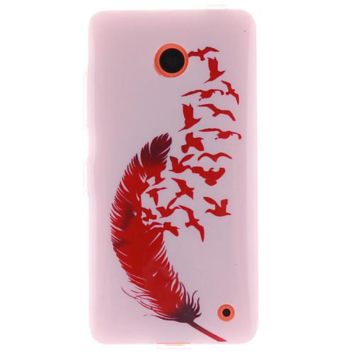красный дизайн перо ТПУ IMD мягкое покрытие для Nokia Lumia N630