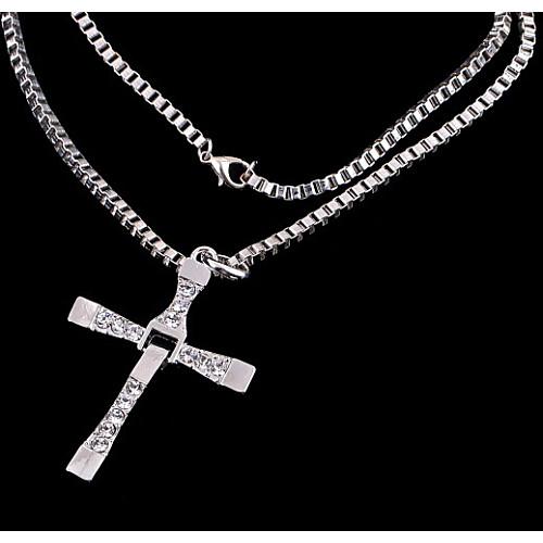 Муж. / Жен. Ожерелья с подвесками - Стразы Мода Серебряный, Золотой Ожерелье Назначение Повседневные