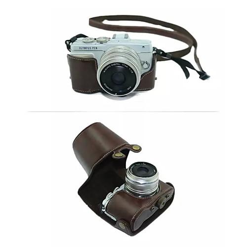 dengpin съемная защитная камера кожаный чехол сумка чехол с плечевым ремнем для Olympus E-PL7 (ассорти цветов) футболка однотонная с открытым плечом
