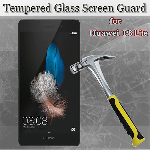 2in1 9ч твердость 2.5d круглый край взрывозащищенные закаленное стекло экрана протектор с чистой инструмента для Huawei P8 Lite