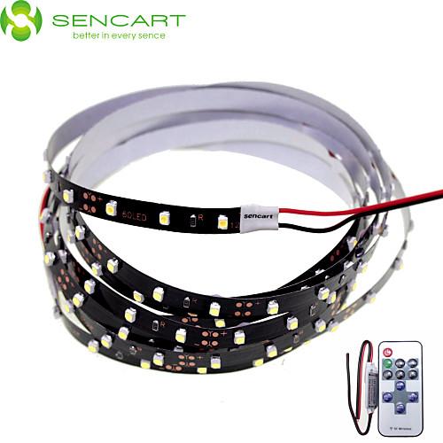 SENCART Гибкие светодиодные ленты 120 светодиоды Белый Пульт управления Можно резать Диммируемая Самоклеющиеся Подсветка для авто