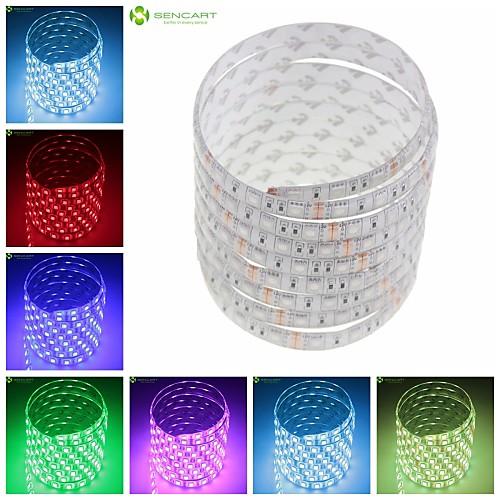 SENCART Гибкие светодиодные ленты 150 светодиоды Тёплый белый RGB Белый Зеленый Желтый Синий Красный Пульт управления Можно резать