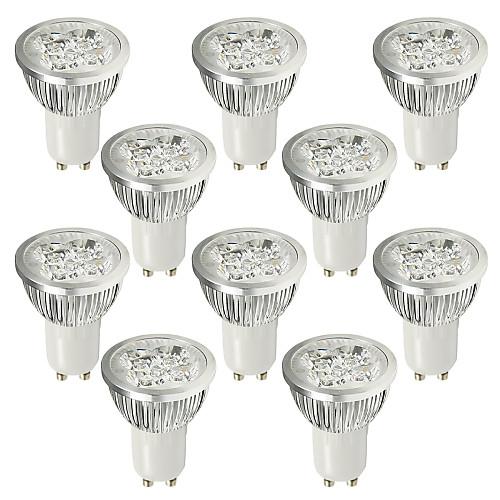 6W GU10 Точечное LED освещение 4 Высокомощный LED 530-580 lm Холодный белый AC 100-240 V 10 шт.