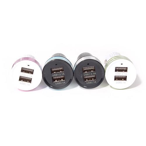 двойной USB сигареты автомобиля адаптер питания легче для смартфонов и вкладки (разных цветов) зарядное устройство soalr 16800mah usb ipad iphone samsug usb dc 5v computure