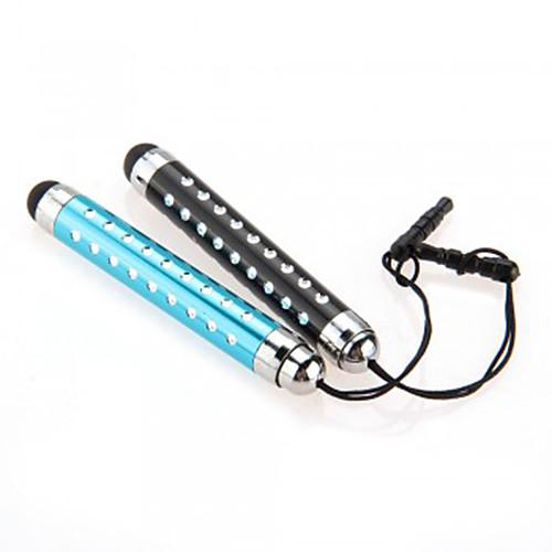 kinston 2 х Выдвижной емкостный стилус с бриллиантом анти-сумерках наушников штекер для iPhone / IPad / Samsung и другие