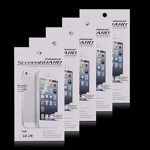 (5 шт) высокой четкости экран протектор для LG L70