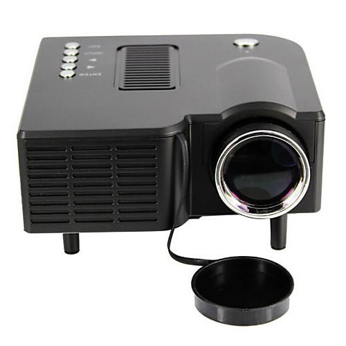 UNIC UC28 ЖК экран Светодиодная лампа Проектор 48 Lumens Поддержка 1080P (1920x1080) 20-80 inches / QVGA (320x240) / ±15° фото