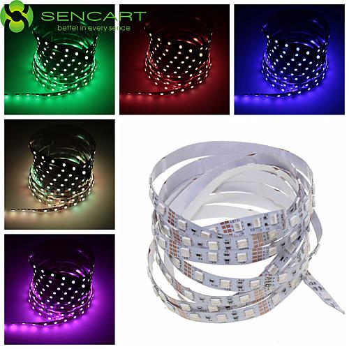 SENCART Гибкие светодиодные ленты 60 светодиоды Тёплый белый RGB Белый Розовый Зеленый Желтый Синий Красный Пульт управления Можно резать