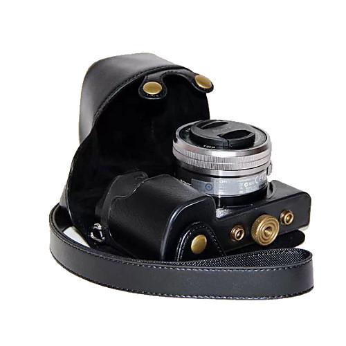 dengpin искусственная кожа камера сумка крышка чехол для Sony ILCE-6000L ILCE-6000 A6000 с 16-50mm объектив (разные цвета) футболка однотонная с открытым плечом