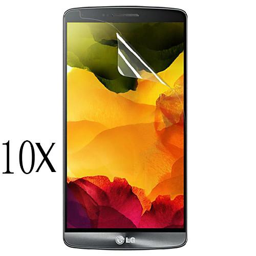 [10 шт] профессиональный высокая прозрачность ЖК кристально ясно протектор экрана с салфеткой для LG g4