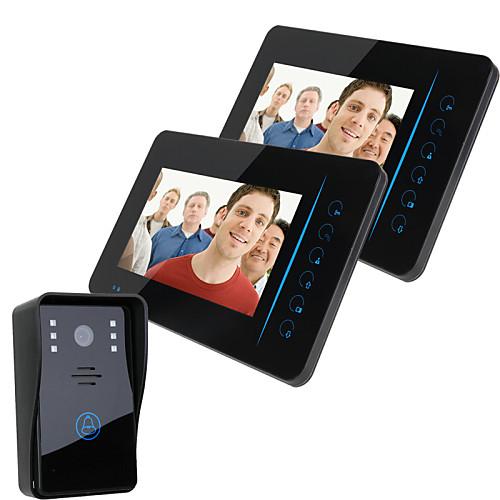 """Ennio 7 """"""""tft 2.4g беспроводной видео домофон домофон домофон домашний сейф 1 камера 2 монитор"""