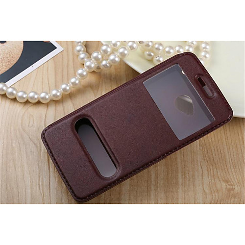 Кейс для Назначение HTC Desire 816 Другое HTC HTC Desire 826 HTC Desire 820 Кейс для HTC со стендом с окошком Флип Чехол Сплошной цвет чехол для htc desire 728 htc hc c1210 прозрачный