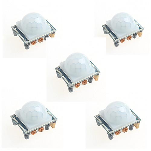 все цены на 5шт HC-sr501 инфракрасный модуль индукции человеческого тела пироэлектрический инфракрасный датчик датчик для Arduino
