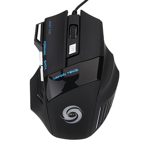 Проводной USB Gaming Mouse Оптический 7pcs ключи Светодиодный свет 5 Регулируемые уровни DPI 1200/1600/2400/3200/5500dpi baodi g20 1200 1600 2400 dpi usb wired optical game mouse w colorful light black