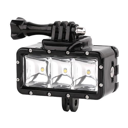 suptig 30m 3-режимы привели водонепроницаемый видео заполняющий свет дайвинг огни, установленные для GoPro hero4 / 3 / 3/2 - черный цена и фото