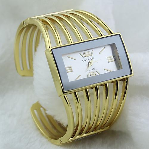 Жен. Наручные часы Горячая распродажа сплав Группа Кольцеобразный / Мода Золотистый
