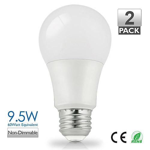 ZDM ™ 2pcs vanlite e27 9w 800lumen водить A60 лампочки освещают 60Watt эквивалентную экономии энергии (AC220-240V)
