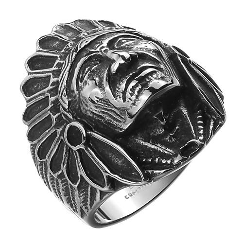 Муж. Нержавеющая сталь / Серебрянное покрытие Кольцо - Мода Серебряный Кольцо Назначение Повседневные / Спорт