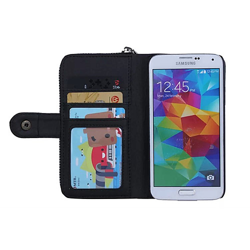 Кейс для Назначение SSamsung Galaxy Кейс для  Samsung Galaxy Бумажник для карт Кошелек Магнитный Чехол Сплошной цвет Мягкий Кожа PU для от MiniInTheBox.com INT